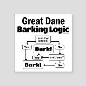 "Great Dane logic Square Sticker 3"" x 3"""