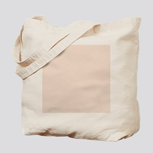Ivory Beige Small Quatre Foil Pattern Tote Bag