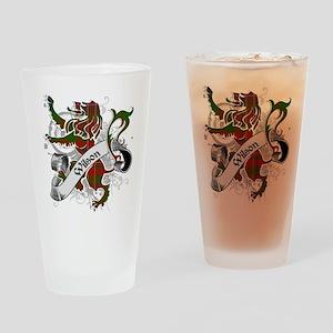 Wilson Tartan Lion Drinking Glass