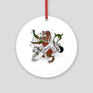 Wilson Tartan Lion Ornament (Round)