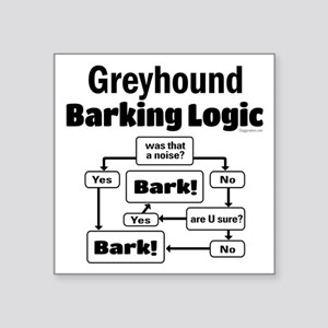 "Greyhound logic Square Sticker 3"" x 3"""