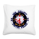USS COLLETT Square Canvas Pillow