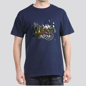 Wilson Tartan Grunge Dark T-Shirt