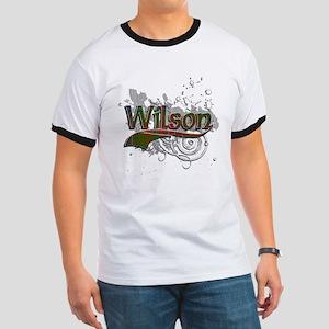 Wilson Tartan Grunge Ringer T