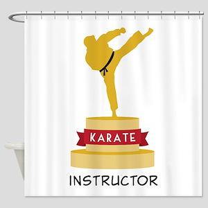 Karate Trophy Shower Curtain