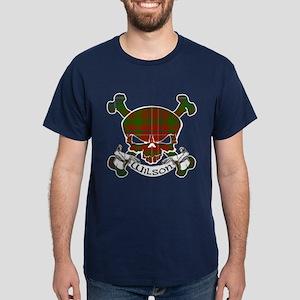 Wilson Tartan Skull Dark T-Shirt