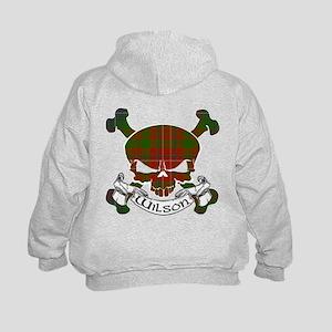 Wilson Tartan Skull Kids Hoodie