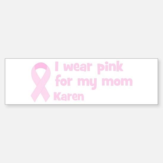 Mom Karen (wear pink) Bumper Car Car Sticker