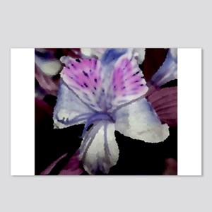 abstract purple orchid Postcards (Package of 8)