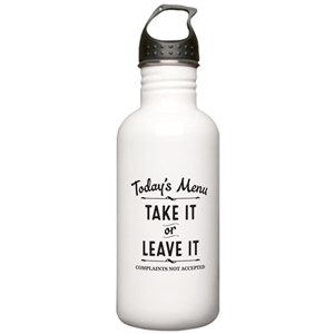 Funny Quotes Water Bottles Cafepress