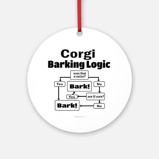 Corgi logic Ornament (Round)