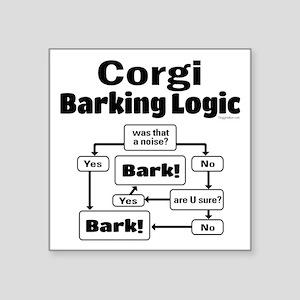 """Corgi logic Square Sticker 3"""" x 3"""""""
