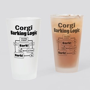 Corgi logic Drinking Glass