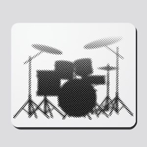 Halftone Drum Kit Mousepad