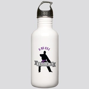 Karate Champion Decal Water Bottle