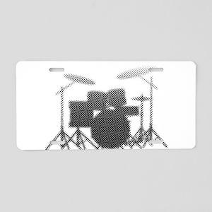 Halftone Drum Kit Aluminum License Plate