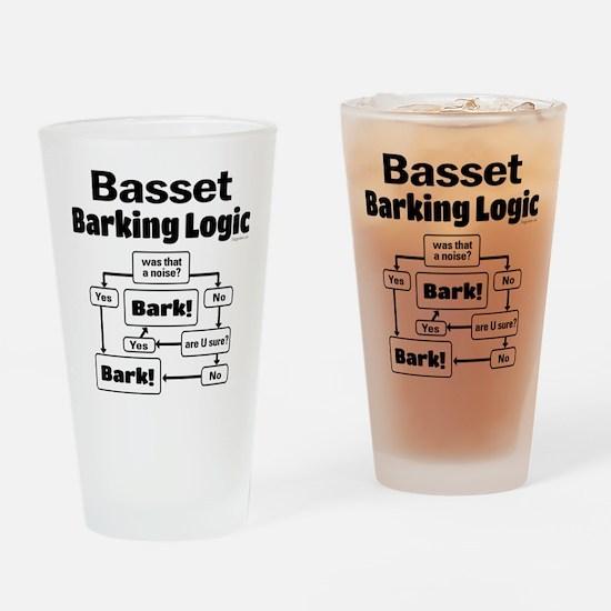 Basset logic Drinking Glass