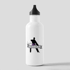 Karate Champion Decal Water Bottle