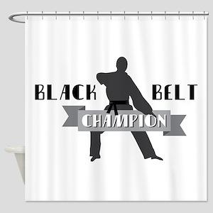 Karate Champion Decal Shower Curtain