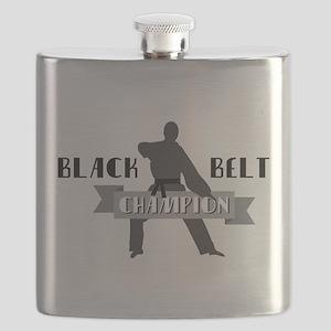 Karate Champion Decal Flask
