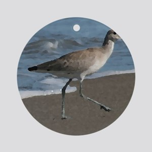 sandpipe blue bird Ornament (Round)