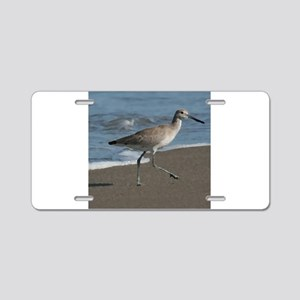 sandpipe blue bird Aluminum License Plate