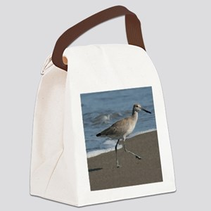 sandpipe blue bird Canvas Lunch Bag