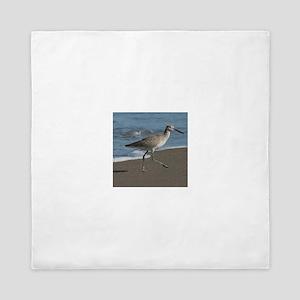 sandpipe blue bird Queen Duvet