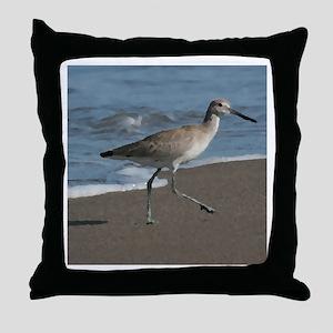 sandpipe blue bird Throw Pillow