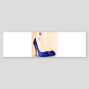 Blue Shoes Tattoo Bumper Sticker