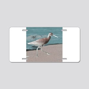 sandpiper teal Aluminum License Plate