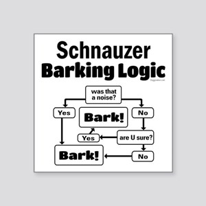 "Schnauzer logic Square Sticker 3"" x 3"""