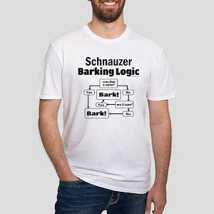 Schnauzer logic Fitted T-Shirt