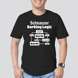 Schnauzer logic Men's Fitted T-Shirt (dark)