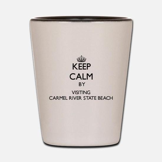 Carmel beach Shot Glass