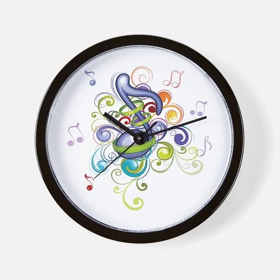 Music in the air Wall Clock