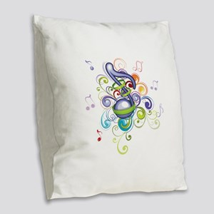 Music In The Air Burlap Throw Pillow
