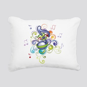 Music in the air Rectangular Canvas Pillow
