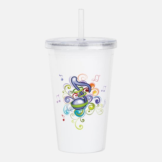 Music in the air Acrylic Double-wall Tumbler