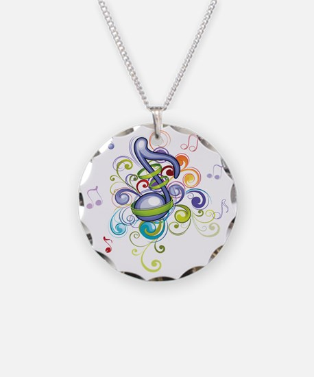 Music In The Air Necklace Circle Charm