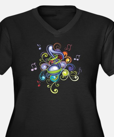 Music in the air Plus Size T-Shirt