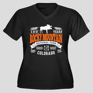 Rocky Mounta Women's Plus Size V-Neck Dark T-Shirt