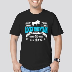 Rocky Mountain Vintage Men's Fitted T-Shirt (dark)