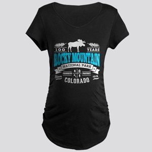 Rocky Mountain Vintage Maternity Dark T-Shirt