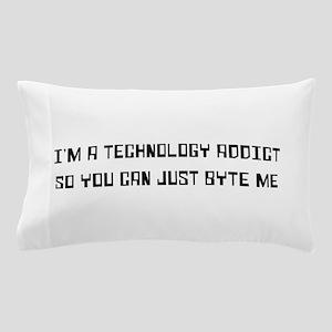 Technology addict byte me Pillow Case