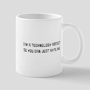 Technology addict byte me Mugs