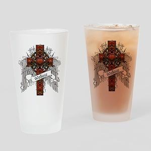 Wallace Tartan Cross Drinking Glass