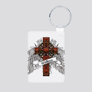 Wallace Tartan Cross Aluminum Photo Keychain