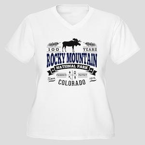 Rocky Mountain Vi Women's Plus Size V-Neck T-Shirt