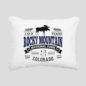 Rocky Mountain Vintage Rectangular Canvas Pillow